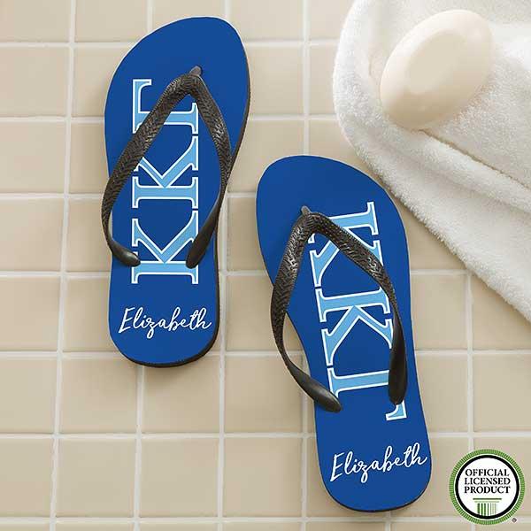 Kappa Kappa Gamma Sorority Personalized Flip Flops - 21569