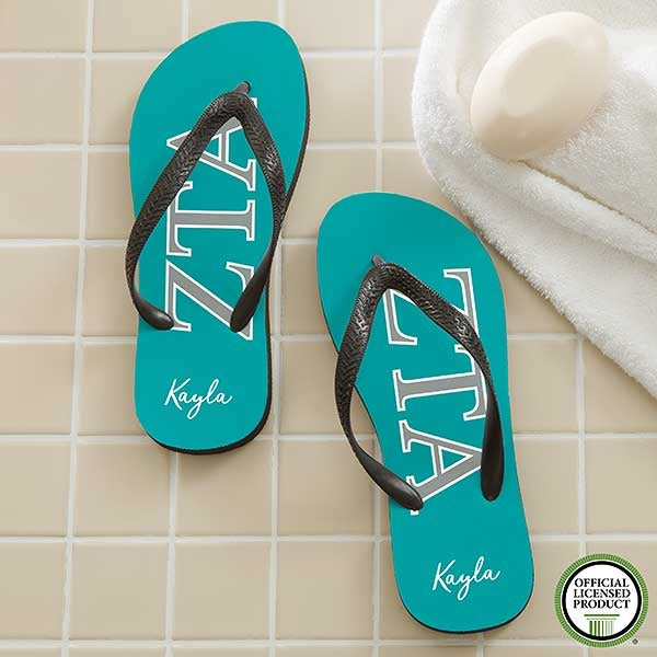 2a20cd2a6b317 Zeta Tau Alpha Sorority Personalized Flip Flops - 21571