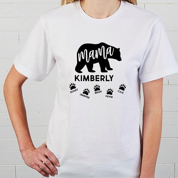 Mama Bear Personalized T Shirt