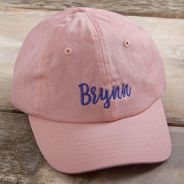 aa0e7ecea9c90 Kids Pink Embroidered Baseball Caps - Kids Gifts