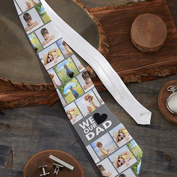 Personalized Photo Tie - His Favorite Faces - 21594