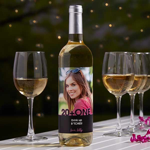 Custom Photo Wine Bottle Label - Any Occasion - 21615
