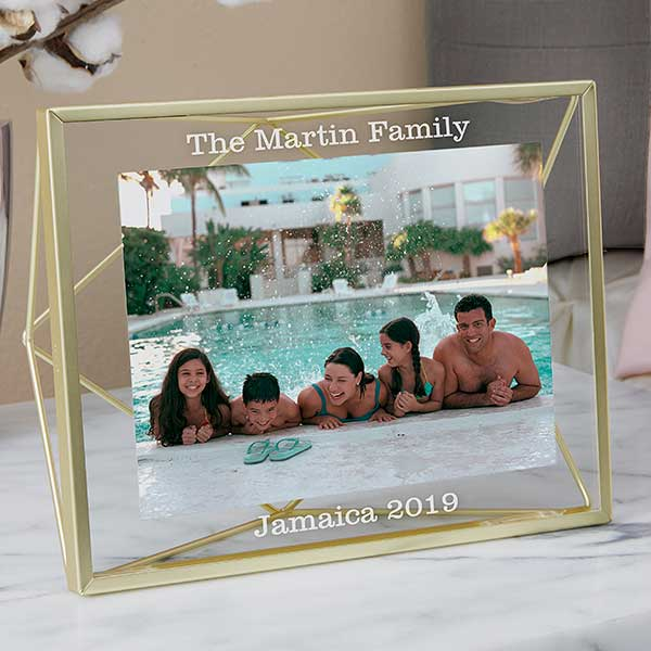 Favorite Travels Glass & Gold Engraved Photo Frame - 21622
