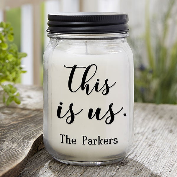 This Is Us Personalized Farmhouse Candle Jar - 21626