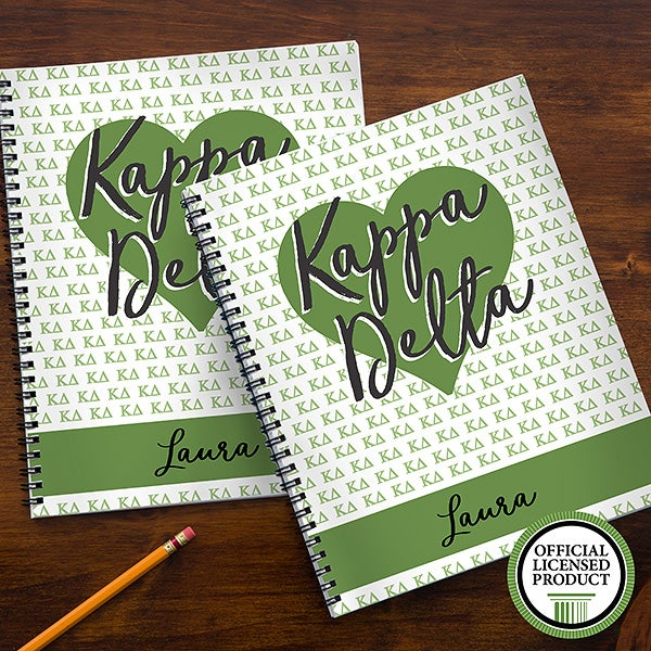 Kappa Delta Sorority Personalized Notebooks - 21643