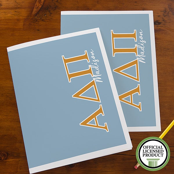 fa7b76a4e8e7e Alpha Delta Pi Sorority Personalized Folders - 21647