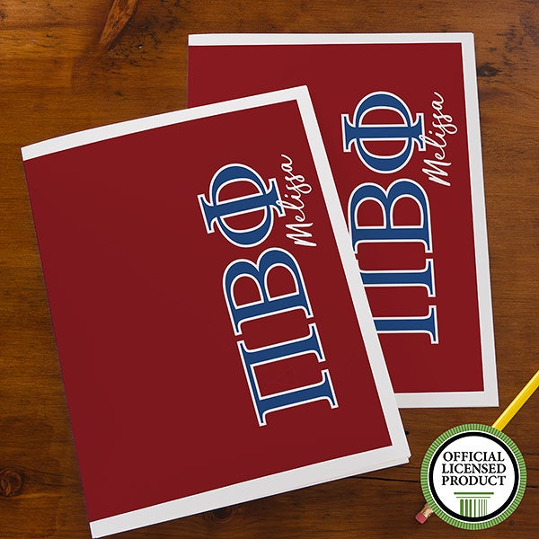Pi Beta Phi Sorority Personalized Folders - 21656