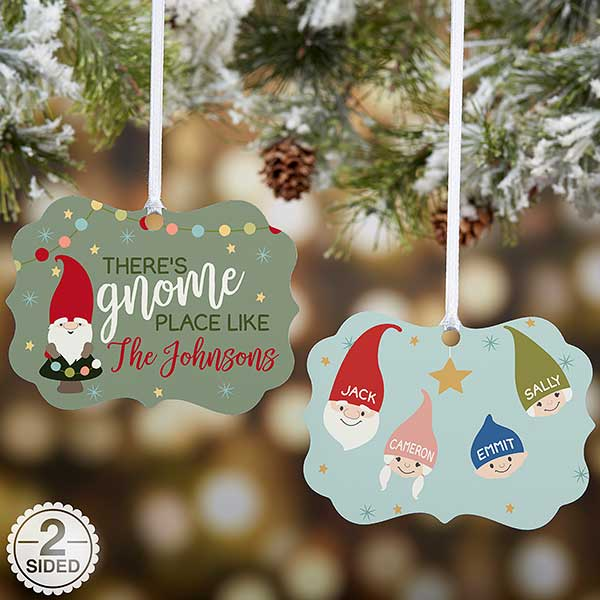 Personalized Gnome Family Christmas Ornament - 21667 - Personalized Gnome Family Christmas Ornament