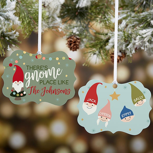Personalized Gnome Family Christmas Ornament