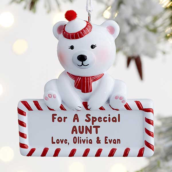 For Someone Special Polar Bear Personalized Ornament - 21678