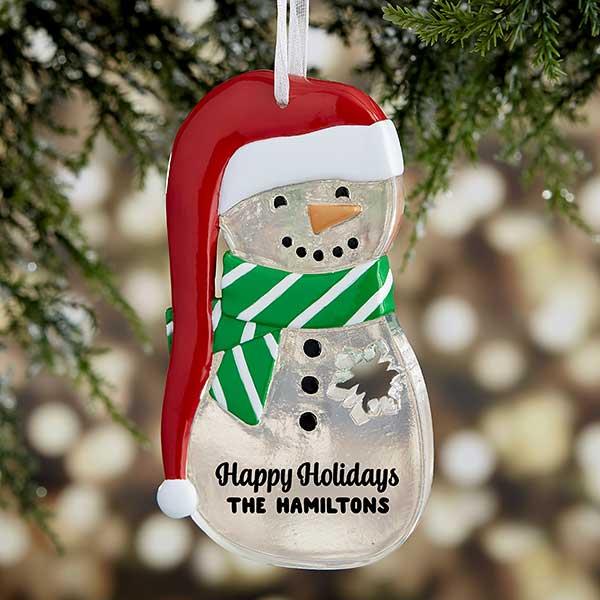 Melt Your Heart Personalized Snowman Ornament - 21682