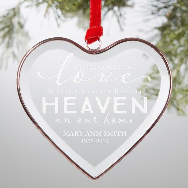 Christmas In Heaven Ornament.Heaven In Our Home Personalized Bronze Edge Ornament