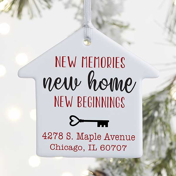 New Memories, New Home Personalized Ornaments - 21697