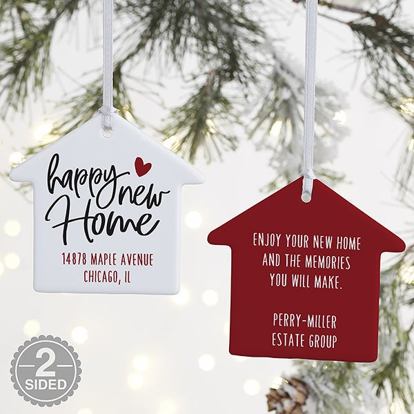 Happy New Home Personalized House Ornaments - 21699