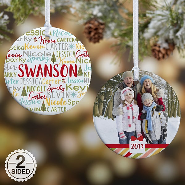 90b4131a657 2018 Personalized Christmas Ornaments