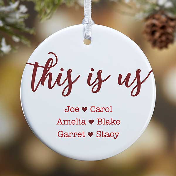 Personalized Christmas Ornaments - This Is Us - 21707