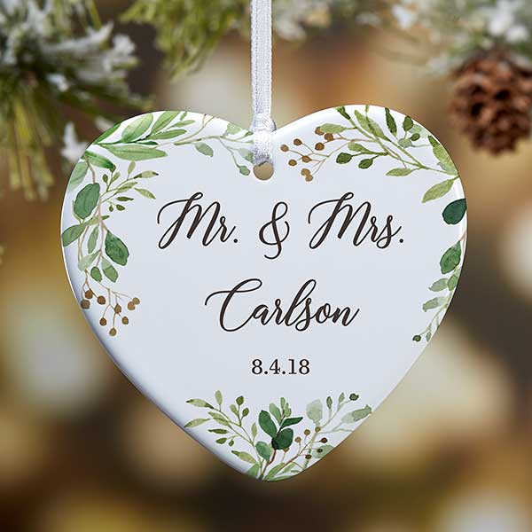 Personalized Wedding Ornament - Laurels Of Love - 21716
