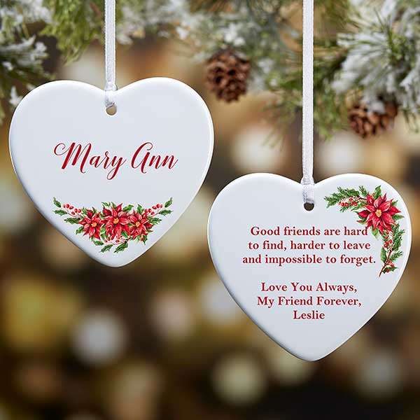 Special Christmas Ornaments.Personalized 2 Sided Ornament For Someone Special