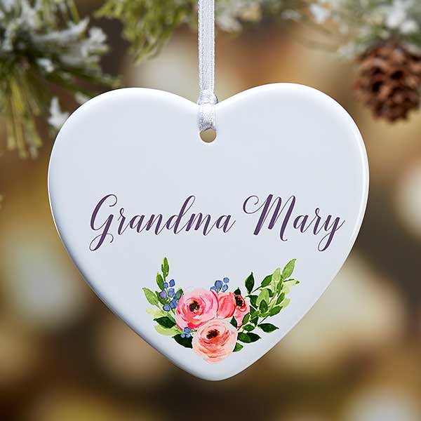 Special Christmas Ornaments.Personalized Heart Ornament For Someone Special