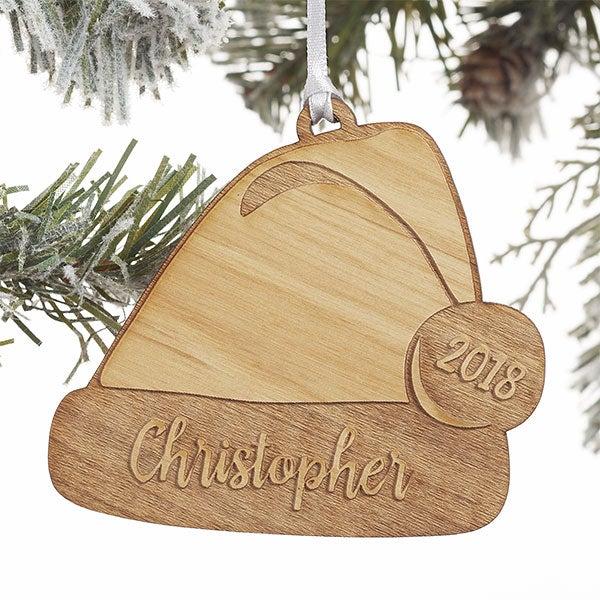Personalized Santa Hat Christmas Ornament - 21723