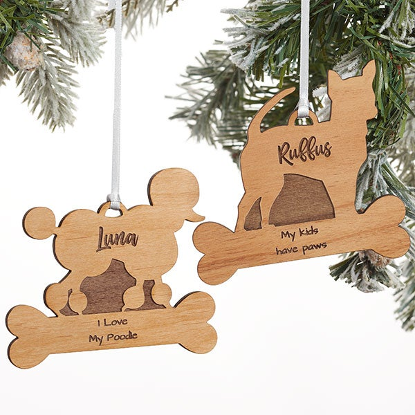 Dog Breed Personalized Wood Ornament  - 21753