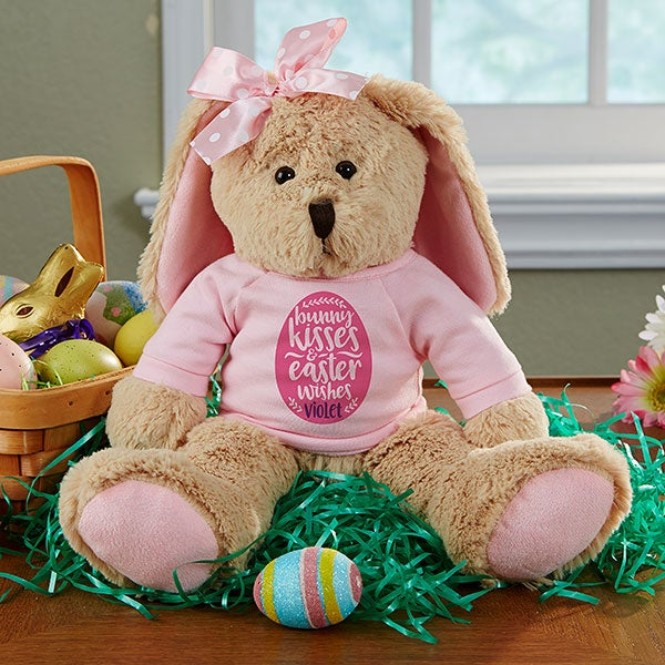 Bunny Kisses & Easter Wishes Personalized Plush Easter Bunny - 21765