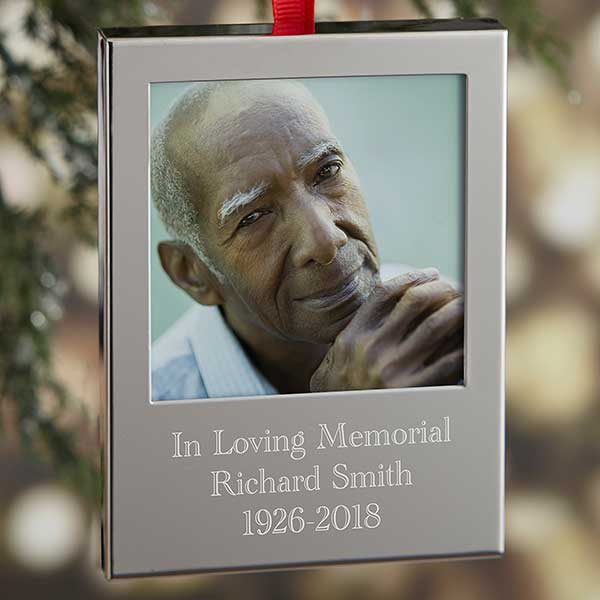 Memorial Photo Engraved Picture Frame Ornaments - 21769