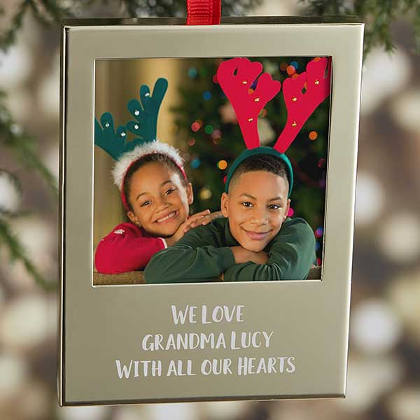 Photo Memories Engraved Picture Frame Ornaments - 21770