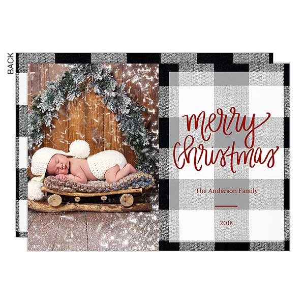 Buffalo Check Christmas Photo Cards - 21782