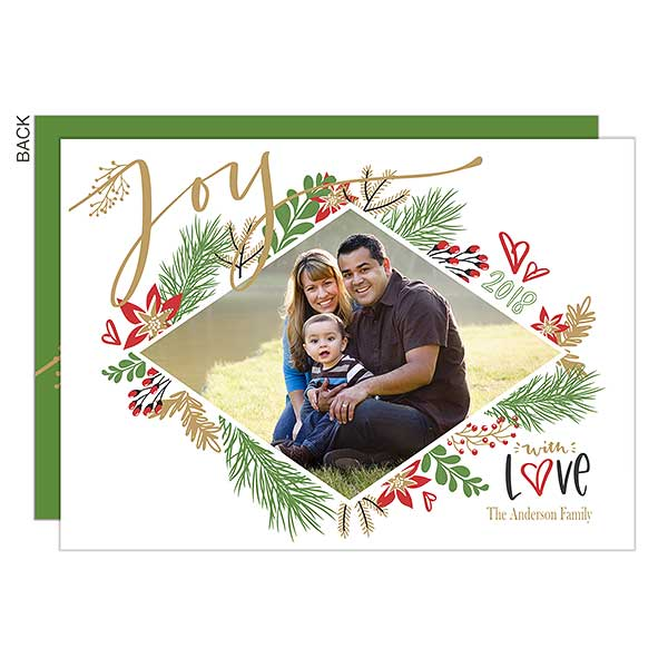 Joy Botanical Holiday Photo Card - 21784