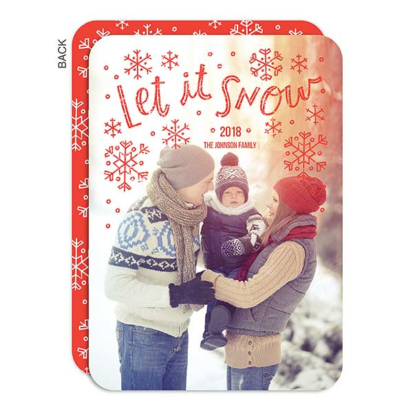 Let It Snow Holiday Photo Cards - 21786