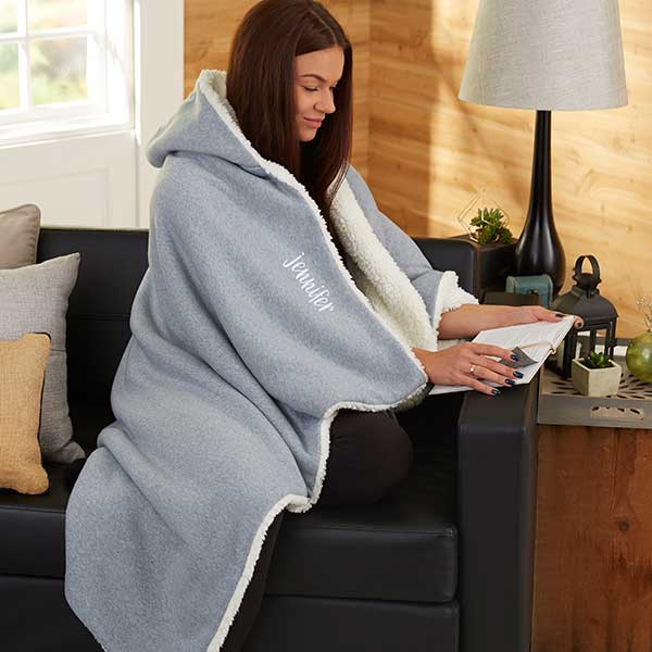 Stylish Name Personalized Hooded Sweatshirt Blanket - 21788