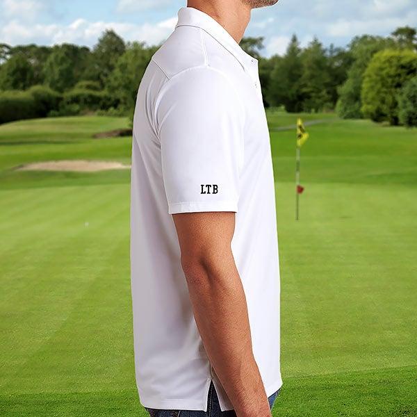 3fed096a8 Custom Embroidered Sleeve White Adidas Polo Shirt - 21800