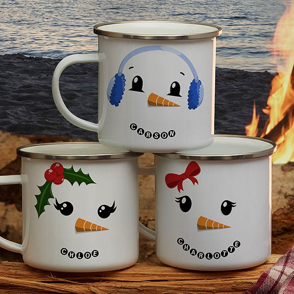 Personalized Camping Mugs - Snowman Characters - 21804