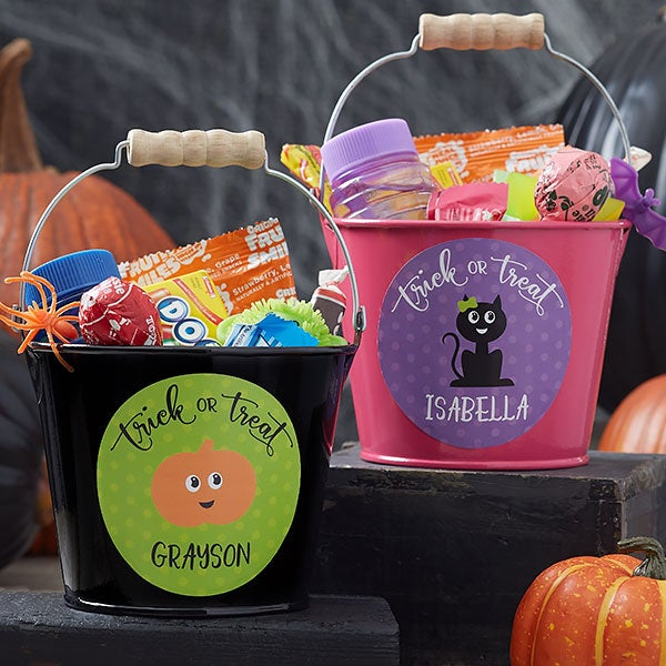 Personalized Halloween Trick or Treat Buckets - 21831
