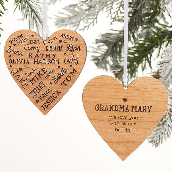 Personalized Close To Her Heart 22 Name Ornament - 21837