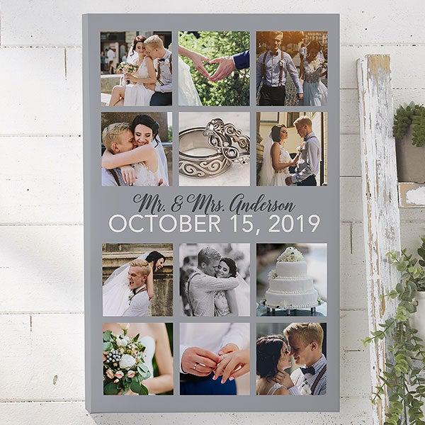 Custom Wedding Canvas Prints - Wedding Photo Collage - 21840