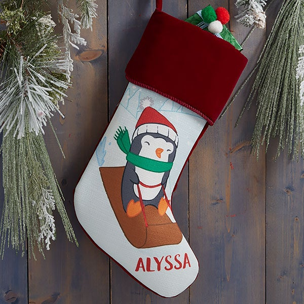 Whimsical Winter Characters Personalized Christmas Stockings - 21843