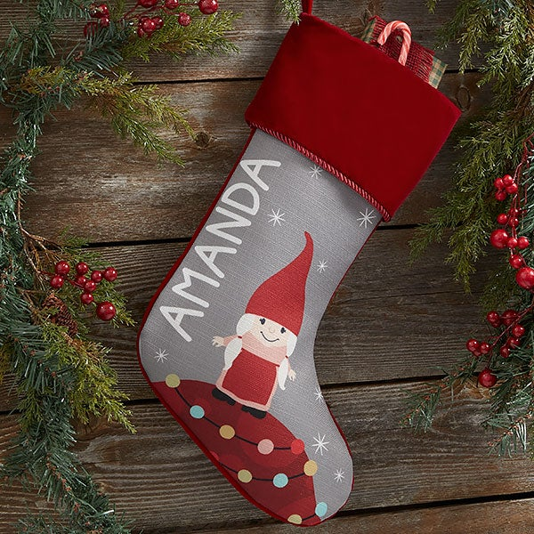 Gnome Family Personalized Christmas Stockings - 21845