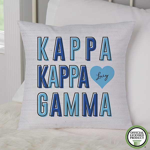 Kappa Kappa Gamma Personalized Sorority Pillows - 21859