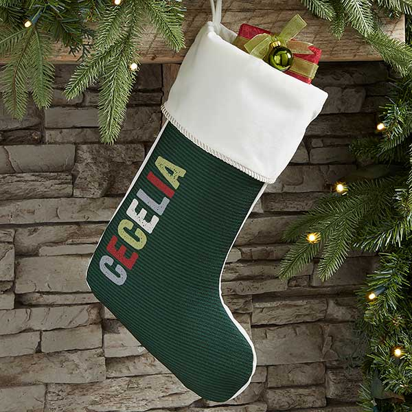 All Mine Personalized Ivory Christmas Stockings
