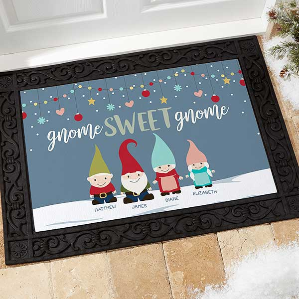 Personalized Gnome Sweet Gnome Doormats - 21864