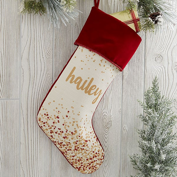 Sparkling Name Personalized Christmas Stockings - 21872
