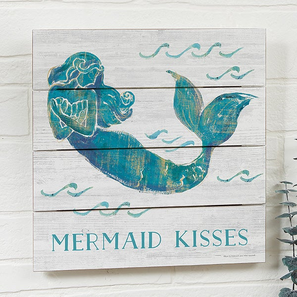 Personalized Wooden Mermaid Shiplap Signs - 21877