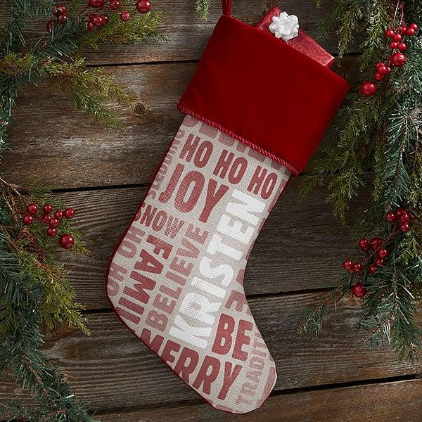 Holiday Celebration Personalized Christmas Stockings - 21883