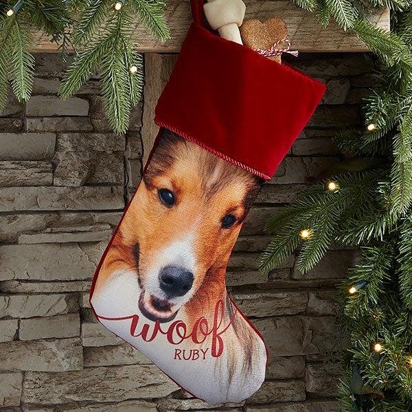 Dog & Cat Personalized Pet Photo Christmas Stockings - 21884