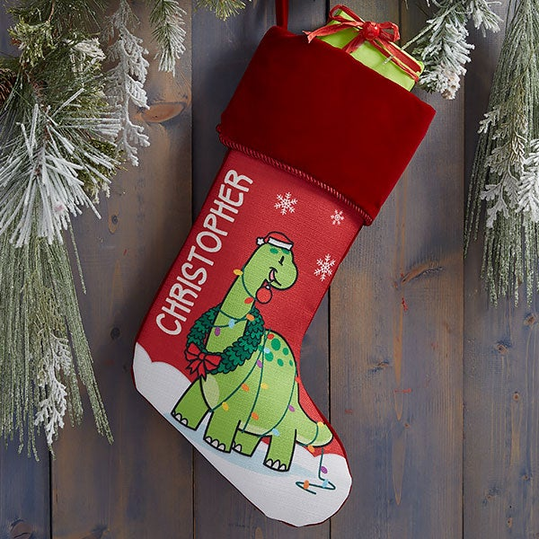 Dinosaur Personalized Christmas Stockings - 21887