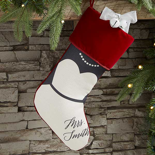 Bride & Groom Personalized Christmas Stockings - 21892