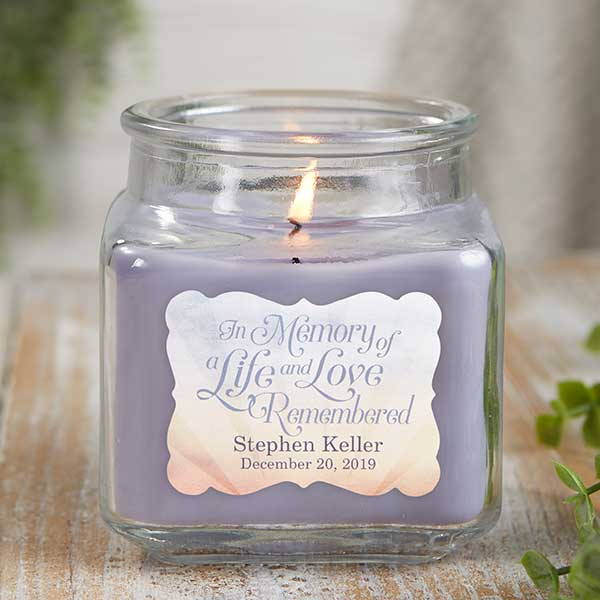 In Memory Personalized Scented Memorial Candles - 21899