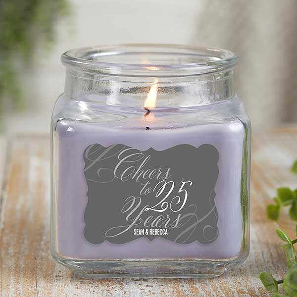 Personalized Anniversary Candle Jars - Cheers To... - 21904